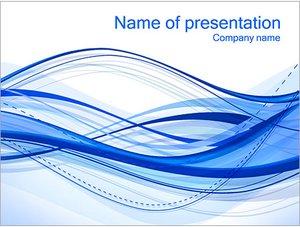 Шаблон презентации PowerPoint: Абстрактные синие волны