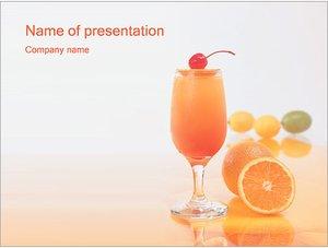 Шаблон презентации PowerPoint: Цитрусовый сок