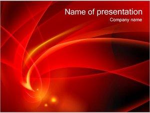 Шаблон презентации PowerPoint: Красная абстракция