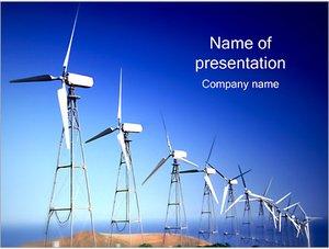 Шаблон презентации PowerPoint: Ветряные электростанции