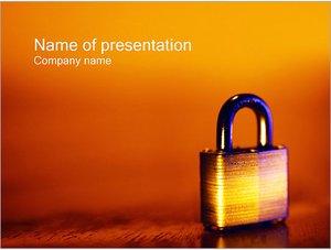 Шаблон презентации PowerPoint: Навесной замок