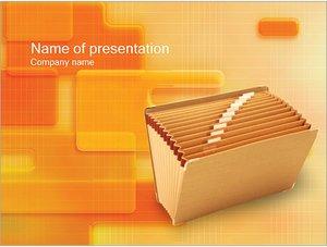 Шаблон презентации PowerPoint: Папка для документов