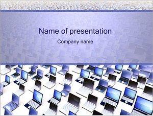 Шаблон презентации PowerPoint: Много ноутбуков