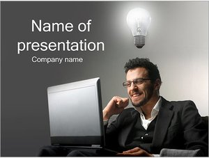 Шаблон презентации PowerPoint: Идея у бизнесмена