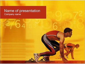 Шаблон презентации PowerPoint: Спортсмен бегун