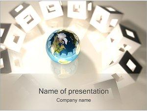 Шаблон презентации PowerPoint: Кубики вокруг земного шара