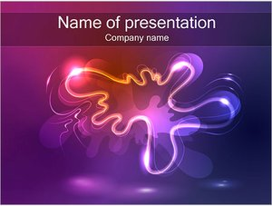 Шаблон презентации PowerPoint: Абстрактная клякса