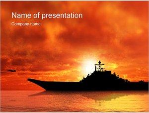 Шаблон презентации PowerPoint: Военный корабль
