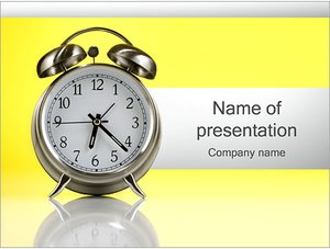 Шаблон презентации PowerPoint: Будильник