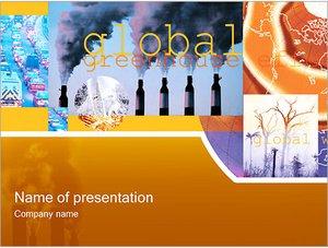 Шаблон презентации PowerPoint: Глобальный парниковый эффект