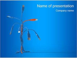 Шаблон презентации PowerPoint: Разъемы USB