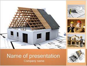 Шаблон презентации PowerPoint: Планирование строительства дома