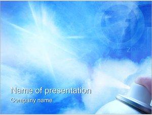 Шаблон презентации PowerPoint: Разрушение озонового слоя