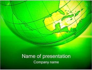 Шаблон презентации PowerPoint: Зеленая планета земля
