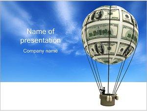 Шаблон презентации PowerPoint: Воздушный шар из денег