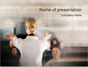 Шаблон презентации PowerPoint: Стюардесса