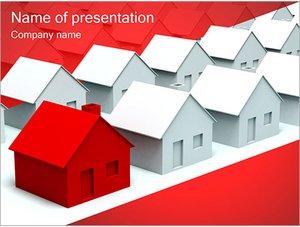 Шаблон презентации PowerPoint: Улица из домов