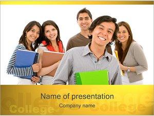 Шаблон презентации PowerPoint: Студенты колледжа