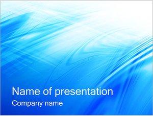 Шаблон презентации PowerPoint: Голубая поверхность