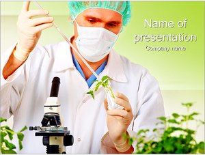 Шаблон презентации PowerPoint: Искусственное выращивание растений
