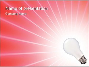 Шаблон презентации PowerPoint: Лампа