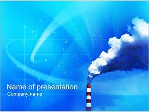 Шаблон презентации PowerPoint: Труба завода