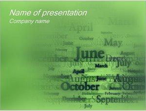 Шаблон презентации PowerPoint: Названия месяцев