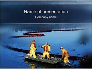 Шаблон презентации PowerPoint: Загрязнение воды