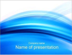 Шаблон презентации PowerPoint: Голубой абстрактный ветер