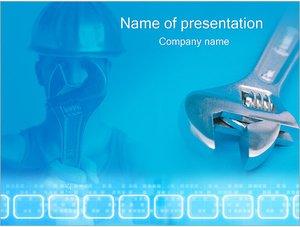 Шаблон презентации PowerPoint: Мастер и гаечный ключ