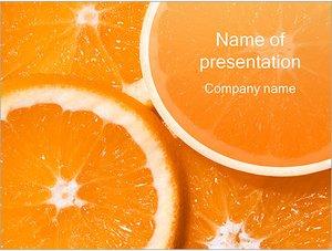 Шаблон презентации PowerPoint: Нарезанные апельсины