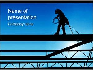 Шаблон презентации PowerPoint: Строитель высотник