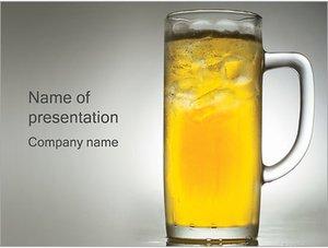 Шаблон презентации PowerPoint: Стакан с пивом
