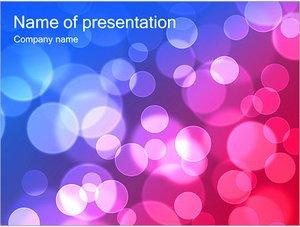 Шаблон презентации PowerPoint: Розовые и синие пузыри