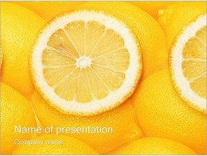 Шаблон презентации PowerPoint: Лимон