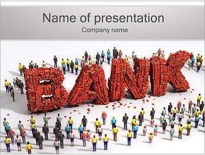 Шаблон презентации PowerPoint: Банк и клиенты