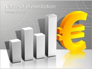 Шаблон презентации PowerPoint: Курс евро