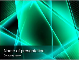 Шаблон презентации PowerPoint: Бирюзовая абстракция