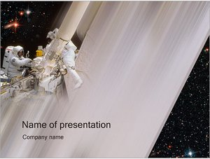 Шаблон презентации PowerPoint: Космонавты