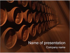 Шаблон презентации PowerPoint: Бочки на складе