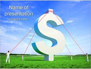 Шаблон презентации PowerPoint: Знак доллара