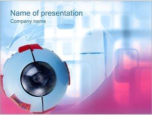 Шаблон презентации PowerPoint: Медицинская модель глаза
