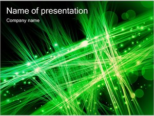 Шаблон презентации PowerPoint: Зеленое оптоволокно