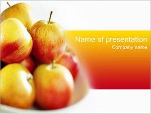 Шаблон презентации PowerPoint: Деревенские яблоки