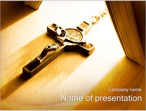 Шаблон презентации PowerPoint: Иисус на кресте