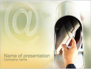 Шаблон презентации PowerPoint: Почтовый ящик