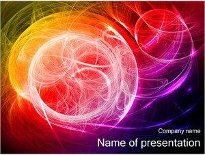 Шаблон презентации PowerPoint: Разноцветные сияющие линии