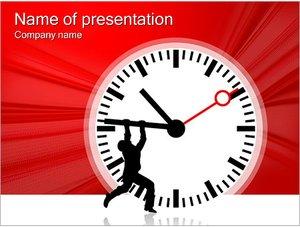 Шаблон презентации PowerPoint: Человек останавливает время