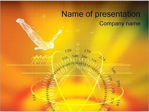 Шаблон презентации PowerPoint: Гироскоп и притяжение