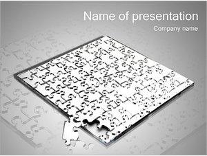 Шаблон презентации PowerPoint: Большая головоломка паззл